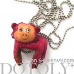 Faux Leather Cute Monkey Animal Cha..