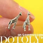 Tiny Giraffe Animal Stud Earrings i..